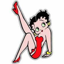 "Betty Boop Red Dress Vynil Car Sticker Decal  9"""