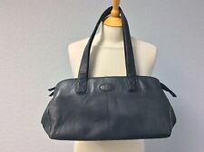 Jobis Navy Leather Bag - Double Strap - Free Post