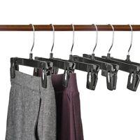 25 Pack Plastic Pants Slack Skirt Hangers With Break Resistant Clip Swivel Hooks