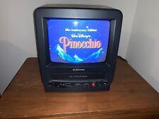 "Rare Combo Emerson 9"" CRT Television TV VCR VT0954 Remote Case Gaming Camping"