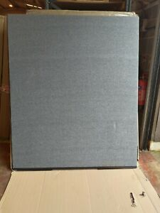 Partition Screen Divider 1500mm W x 1800mm H Grey Woolmix