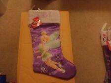 """Girl'S Christmas Disney Stocking Tinkerbell New 18"""""""