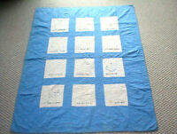 "Vintage Antique BABY CRIB Blanket ""BABY's DAY""  QUILT 1930?s Illinois"