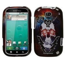 Lightning Skull Hard Case Cover Motorola Bravo MB520