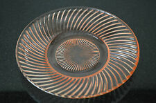 "PINK DIANA DEPRESSION FEDERAL GLASS SAUCER    5 7/8"" ROUND"