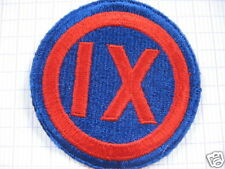 INSIGNE,PATCH,TISSUS,IXth CORP D'ARMEE,U.S.,WWII