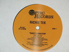"RICHIE TEK sweet sensation /chi boom / only you 12"" RECORD REGGAE DANCEHALL RARE"