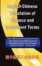 English-Chinese Translation of Finance and Investment Terms by David Chung...