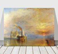 """WILLIAM TURNER - The Fighting Temeraire - CANVAS ART PRINT POSTER - Boat -32x24"""""""