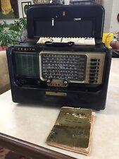 Vintage 1956 Zenith Trans Oceanic Wave Magnet Tube Radio Model A600