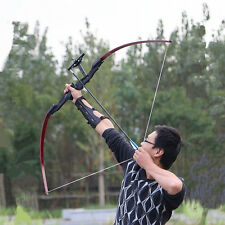 30lbs 135cm Straight Bow Arrow Shooting Practice Hunting Archery Install Bow