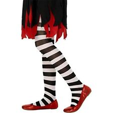 Smiffys Tights Black and White Striped Age 6-12