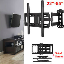 LCD LED Corner TV Wall Bracket 30 32 40 47 50 55 inches Tilt Swivel Universal CC