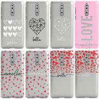 PERSONALISED VALENTINES DAY TRANSLUCENT CUSTOM NAMES PHONE CASE COVER FOR NOKIA