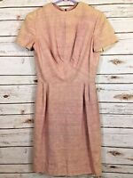 Pink Dress Vintage 1960's Size Medium 8/10