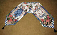 Seed Packets ~ Mr & Mrs Scarecrow w/Pumpkins Fall Harvest Tapestry Table Runner
