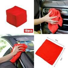 10× Red Car Cleaning Detailing Microfiber Soft Polish Cloths Towel Lint 30*30cm