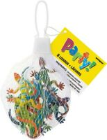 PLASTIC TOY LIZARDS PACK OF 8 PARTY LOOT BAG FILLER ANIMAL TOY GIFT