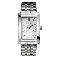 Bulova Corporate Collection Men's Quartz Silver-Tone 29.5mm Watch 96A157