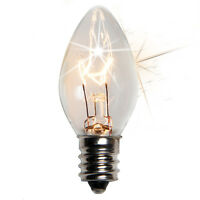 C-7 Light Bulbs Replacement Lighting Bulbs Only Any Color Steady Twinkle C7 E12