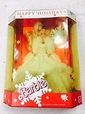 Happy Holidays 1989 Special Edition Barbie Doll Vintage In Original Box