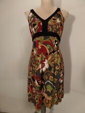 A Pea in the Pod Collection, Paisley Mod Boho Gypsy Floral Tie Back  Dress  L