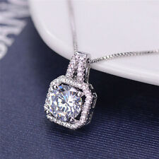 1x Crystal Charm Pendant Jewelry Chain Chunky Statement Choker Necklace Lzh