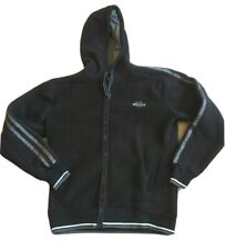 Lonsdale Mens size medium black and grey zip up hooded fleece pockets