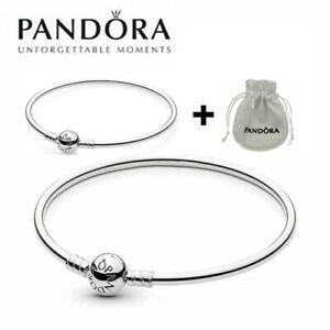 Pandora Moments Bangle Genuine Silver 925 Bracelets With Bag
