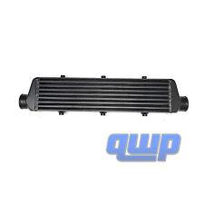 "Universal Aluminum Black Bar & Plate Front Mount Turbo Intercooler 27""X5.5""X2.5"""