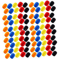 100 Pcs Colorful Microphone Windscreen Sponge Foam Covers Protection
