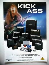 PUBLICITE-ADVERTISING :  Amplis BEHRINGER  12/2002