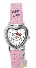Reloj de Pulsera Reloj De Hello Kitty Corazón rosa irregulares Nueva Correa de Hora Oficial Lindo