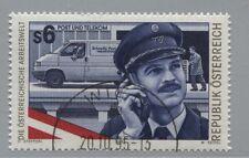 Österreich Austria 2173 Arbeitswelt (VII): Postbeamter, Postfahrzeug - 1995 gest