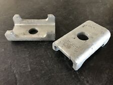 """(2) Trailer axle spring perch / seat for 2"""" 1500-2K # SQUARE axel tube mount GAL"""