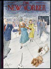 New Yorker magazine framing cover February 12 1955 poodle peke dog show