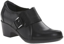 Clarks Women's Leather Genette Vista Booties,  Black , 6.5 M US