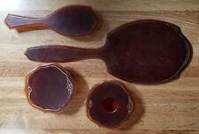 Vintage Antique Celluloid Pyralin Arlington Faux Tortoise Shell Vanity Set