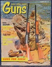 Magazine *GUNS* March 1966 !MOSSBERG Model 800 RIFLE! *French MAS/50 Air PISTOL*