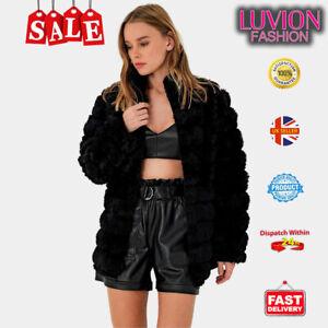Turkish Made Women Fluffy Fur Jacket Warm Overcoat Outerwear Ladies Coat