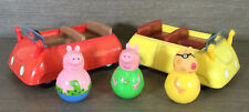 CBeebies Peppa Pig Weebles Bundle Set zwei Autos & Train & 6 Weeble Zeichen