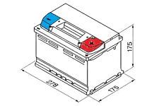 Fiat Croma 154 1985-1996 Bosch S3 Battery 77Ah Electrical System Replace Part