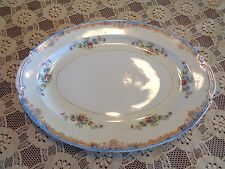 Crown China Occupied Japan Oval Porcelain Serving Dish Or Platter