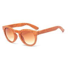 9d64cbb253 Retro Bamboo Wood Print Round Sunglasses Mens Women Pilot Eye Glasses  Eyewear