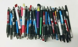 50 Bulk Lot Wholesale Misprint Ball Point Retractable Click Pens FREE SHIP