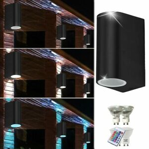 1x-2x-3x LED Außen Lampe Dimmbar RGB mit Fernbedienung UP DOWN Wand Spot Leuchte