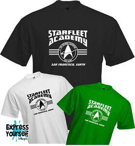 STARFLEET ACADEMY - T Shirt, Star Trek, Trekkie, Geek, Fun, Cool, Quality, NEW