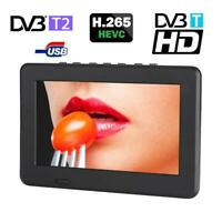 7inch DVB-T-T2 HD Digital Analog Portable TV Color Television Player for Home