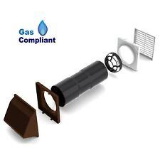 Anti Draught Air Ventilator Core Drill Brown Hooded Cowl Wall Cavity vent Aero