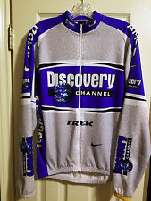 *RARE**TEAM ISSUE* NIKE DISCOVERY CHANNEL CYCLING THERMAL JERSEY LANCE ARMSTRONG